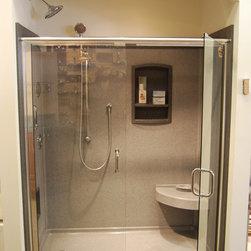 Showroom - Swanstone Shower with Basco Shower Door