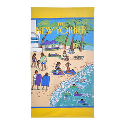 None - The New Yorker Beach Scene Towel - Conde Nast Beach is a collection of vintage magazine covers that have been transformed into stunning towels. Constructed of 100-percent cotton,the New Yorker Beach Scene towel features a design from this famous publication.