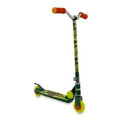Bravo Sports - Teenage Mutant Ninja Turtles Folding Torpedo Scooter - Let your kid cruise with the Teenage Mutant Ninja Turtles using this cool, folding scooter featuring striking green graphics, a polypropylene injected footplate, sturdy carbon steel axle, and large 120mm PVC injected wheels for a smooth ride.