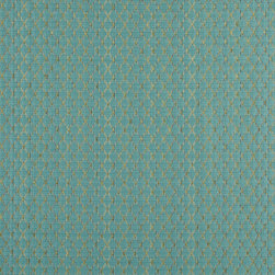 Turquoise And Green Stitched Diamonds Upholstery Jacquard Fabric By The Yard - This multipurpose fabric is great for residential upholstery, slipcovers and pillows. This material is woven for enhanced elegance, and will exceed 35,000 double rubs (15,000 is considered heavy duty)