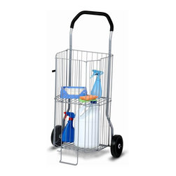 Honey Can Do - 2 Tier All-Purpose Cart - Holds up to 50 lbs. Folds Flat for easy storage. 38 in. H x 20 in. W x 14 in. D (9.7 lbs)