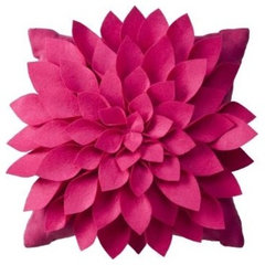 contemporary pillows Felt Flower Decorative Pillow