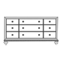 Wynwood - Wynwood Monterrey Dresser in Brown - Provide your bedroom with subtle sophistication by adding this Monterrey Dresser by Wynwood Furnitures to the decor. The piece carries a brown finish and features turned feet as well as nickle-finished knobs for a wonderful contrasting look. In addition, this dresser has eight drawers to which includes the felt-lined top drawers, middle-right facing drawer features a false-bottom panel, cedar lined bottom drawers are also included. There will be plenty to be pleased about with this dresser in your decor.