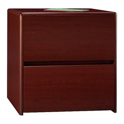 Bush - Melamine Top Two Drawer Lateral File Cabinet - The Northfield Lateral Storage File uses full-extension ball bearing slides that offer easy access to drawer contents.  It features a beautiful and durable melamine top surface and rounded edges.  The Northfield Lateral Storage File is the perfect piece for any upscale office.  This attractive and versatile Melamine Top Two Drawer Lateral File Cabinet features quality touches like 8-way rounded radius edges, full-extension ball bearing slides on the file drawers and a durable melamine top surface.  8-way rounded radius edges help prevent bumps and bruises. * 8-way rounded radius edges. File drawers hold letter- or legal-size files. Durable melamine top surface. Full-extension ball bearing slides on file drawers offer access to entire drawer contents. No anti-tip mechanism on this file. 30.315 in. W x 19.606 in. D x 30.709 in. H