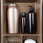 Bathroom Niche & Shelf Store - Newest niche  shower shelf design hot out of the oven, holds 3- 32 oz TreSeme shampoo bottles, soap and room for more.