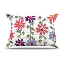 """Kess InHouse - Jolene Heckman """"Fall Flowers"""" Floral Pillow Case, Standard (30"""" x 20"""") - This pillowcase, is just as bunny soft as the Kess InHouse duvet. It's made of microfiber velvety fleece. This machine washable fleece pillow case is the perfect accent to any duvet. Be your Bed's Curator."""