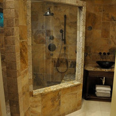 Traditional Showers by BV Tile and Stone