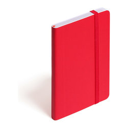 Poppin - Soft Cover Notebook, Red, Small - Keep your little black book — or play the field in a rainbow of colors. This notebook features 192 white ruled pages for your field notes, love poems and bright ideas, and it has an interior pocket, elastic closure and an orange bookmark so you know your place.