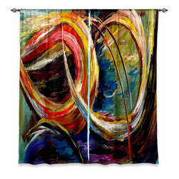 """DiaNoche Designs - Window Curtains Lined by Lam Fuk Tim Abstract Spiral - Purchasing window curtains just got easier and better! Create a designer look to any of your living spaces with our decorative and unique """"Lined Window Curtains."""" Perfect for the living room, dining room or bedroom, these artistic curtains are an easy and inexpensive way to add color and style when decorating your home.  This is a woven poly material that filters outside light and creates a privacy barrier.  Each package includes two easy-to-hang, 3 inch diameter pole-pocket curtain panels.  The width listed is the total measurement of the two panels.  Curtain rod sold separately. Easy care, machine wash cold, tumble dry low, iron low if needed.  Printed in the USA."""