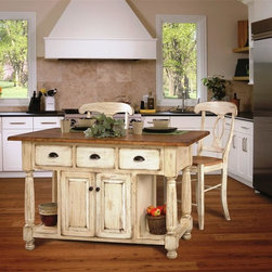 Leola Collection Kitchen Islands - This highly customizable kitchen island allows you to select the wood type, hardware and stain or paint finish to perfectly suit your kitchen and food preparation needs. This gorgeous kitchen island is handcrafted in the United States of America by authentic Amish woodworkers and is heirloom quality - ensuring several lifetimes of use.