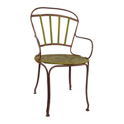 French Bistro Chair - Antique French Bistro Chair. Great accent chair. Beautiful coloring.