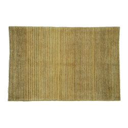Striped Oriental Rug, 100% Wool 4'X6' Gabbeh Peshawar Hand Knotted Rug SH7540 - Our Modern & Contemporary Rug Collections are directly imported out of India & China.  The designs range from, solid, striped, geometric, modern, and abstract.  The color schemes range from very soft to very vibrant.