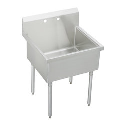 Elkay Pursuit Utility Free Standing Sink Laundry Basin - If you would like to have the ultimate in an industrial stainless laundry basin, this is it.
