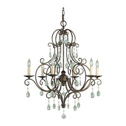 Murray Feiss - Murray Feiss Chateau 1 Tier Chandelier in Mocha Bronze - Shown in picture: Chateau 6 Light Chandelier in Mocha Bronze finish