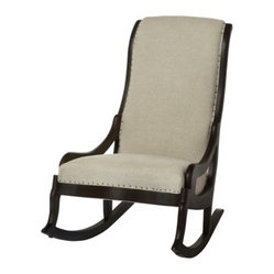 Ninna Rocker - I want to see this rocker rocking on a front porch draped in an outdoor fabric. It's gorgeous!