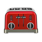 Cuisinart Toaster, 4 Slice, Metallic Red - Introduce retro style into the kitchen with this sleek toaster.