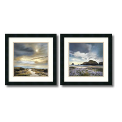 Amanti Art - William Vanscoy 'Sense of Direction & Sweet Illusion- set of 2' Framed Art Print - Hear the coastal call through the luminous photography of William Vanscoy. The Sense of Direction & Sweet Illusion framed art set makes the perfect complement to any beach lover's decor.