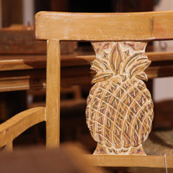 Brazilian Peroba Carved Dining Chair -