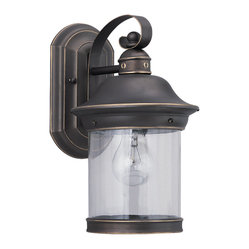Sea Gull Lighting Hermitage Antique Bronze 1-light Outdoor Lantern