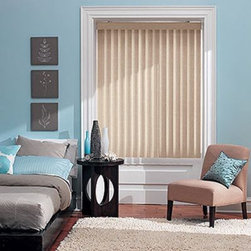 Bali Vertical Blinds - S-Curve PVC Verticals. Whites and off-whites,Neutrals and - S-Curve PVC Verticals - Buy with Confidence, Get Free Samples Today!Bring a softer look to your windows Bali S-Shaped Vinyl Vertical Blinds from Blinds.com. The s-shaped cross section brings a look that mimics the folds of a drapery to your larger windows or sliding glass  doors, while providing excellent light control and privacy. Available in a beautiful array of textures and colors these blinds will add a touch of style to any room in your home. Upgrade to the Magnum Headrail, which offers a high tech pantograph system to ensure equal vane spacing across the width. Select from multiple valance offerings for a finished look.