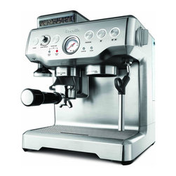 Breville Barista Express Machine with Grinder - Hello, lover. This bad boy brings me my morning, grande, skinny cappuccino every morning. Well, perhaps he doesn't serve it to me. I do have to do a bit of the legwork, but without him, I'm lost. And sleepy. All day.