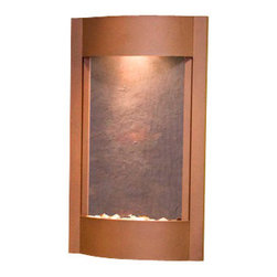Adagio Water Features - Serene Waters Wall Fountain, Woodland Brown, Rajah Featherstone - Easy installation and lightweight