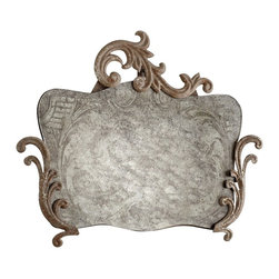 """Cyan Design - Rustic Aged Mirrors (Three Sizes) by Cyan Designs - The rustic aged character of these fabulous and unique mirrors is unparalleled. Choose your favorite to hang instead of a traditional art piece or cluster all three for an interesting wall collection. Iron accents adorn the otherwise frameless glass. Hint: you will not see yourself clearly in these... in fact, not at all! (CY) Morgana - 13.875"""" wide x 12"""" high x 1"""" deep Charlemagne - 11.875"""" wide x 20.5"""" high x .5"""" deep Findabair - 14.75"""" wide x 21.5"""" high x .5"""" deep"""