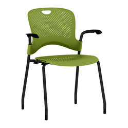 Caper Chair, Fixed Arms - Black Frame