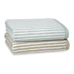 Kassatex - Kassatex Linea Bath Towel - Crafted in Turkey using the finest long staple cotton yarns, these Kassatex Linea towels create a sublime bathing experience. These luxurious towels are perfect for any bathroom decor.
