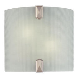 Minka Lavery - Minka Lavery 372-84-PL Brushed Nickel 2 Light Wall Sconce - Frosted Glass Shade