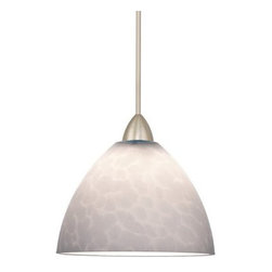 WAC Lighting - WAC Lighting MP-541-WT Low Voltage Monopoint Faberge Pendant with White Glass - WAC Lighting MP-541 Low Voltage Faberge Monpoint PendantNeutral Amber and White colorations, combined with a classic profile, offer pendants for contemporary, traditional or transitional spaces.�Features: