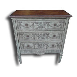 EuroLux Home - New Chest of Drawers Blue French Brass - Product Details