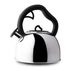 Farberware Cookware - Farberware Classic Stainless Steel 2 Qt. Teakettle - Farberware Classic Stainless Steel Series 2 qt. Stainless Steel Teakettle - Monterey.  Convenient spring loaded spout allows easy pouring.  Polished Stainless Steel for beauty and durability.  Tight fitting lid keeps steam in the kettle for rapid heating.  Whistling feature signals when water is at a boil.  Comfortable handle is designed to ensure a well balanced grip while pouring.