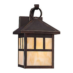 Sea Gull Lighting - Sea Gull Lighting-89016BLE-71-Prairie Statement - One Light Outdoor Wall Mount - *Shade Included.