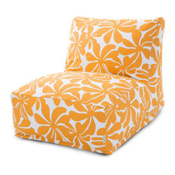 Majestic Home - Outdoor Yellow Plantation Bean Bag Chair Lounger - Add style and functionality to your living room, family room or outdoor patio with the Majestic Home Goods Bean Bag Chair Lounger. This Beanbag Chair has the design of modern furniture, while still giving the comfort of a classic bean bag. Woven from outdoor treated polyester, these loungers have up to 1000 hours of U.V. protection and are able to withstand all of natures elements. The beanbag inserts are eco-friendly by using up to 50% recycled polystyrene beads, and the removable zippered slipcovers are conveniently machine-washable.