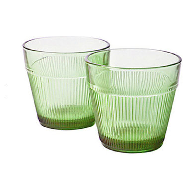 """Fluted Glass, 3x3"""", Lime - Imported from Italy, molded glass 3x3"""", lime."""