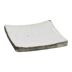 Zentique - Decorative Dish, Small - Granular clay square dish with a distressed ceramic finish. For decorative purposes only.