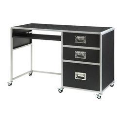 Coaster - LeClair Computer Desk, Metal/Black - LeClair Computer Desk, Metal/Black