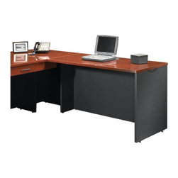 Sauder - Sauder Via Desk Return in Classic Cherry - Sauder - L/R Returns - 401446 - Sure, lots of office and home furnishing manufacturers can help you create an organized, comfortable and fashionable place to live. But Sauder provides a special kind of furniture that is practical and affordable, as well as attractive and enduring. As North America's leading producer of ready-to-assemble furniture, we offer more than 500 items that have won national design awards and generated thousands of letters of gratitude from satisfied consumers.