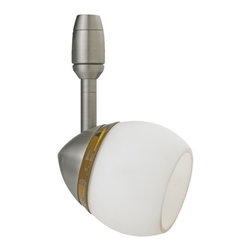 Sea Gull Lighting - Sea Gull Lighting Urban Loft Directional Track Light Fixture X-569-73549 - Track Head in Antique Brushed Nickel Finish with Opal Cased Etched Glass Shade.