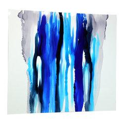 Hand-made Original Direct from Artist - Jon Allen - Blue Blood - Modern Abstract Original Painting by Jon Allen - Blue Blood   by Jon Allen