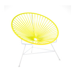 Innit Chair, White Frame With Yellow Weave