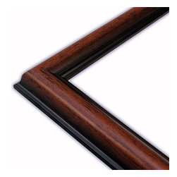 The Frame Guys - Rounded Walnut/Black Picture Frame-Solid Wood, 11x14 - *Rounded Walnut/Black Picture Frame-Solid Wood, 11x14