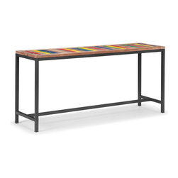 Zuo Modern - Zuo Modern Brookdale Console Table in Multicolor Distressed Natural - Console Table in Multicolor Distressed Natural belongs to Brookdale Collection by Zuo Modern Console Table (1)