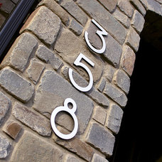 Modern House Numbers by numbermyhouse.com