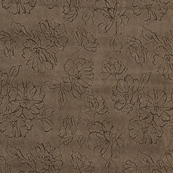 Brown Floral Microfiber Upholstery Fabric By The Yard - This microfiber upholstery fabrics is great for all residential, contract, hospitality and automotive purposes. Our microfiber fabrics are stain resistant, heavy duty and machine washable. This pattern is non-directional.
