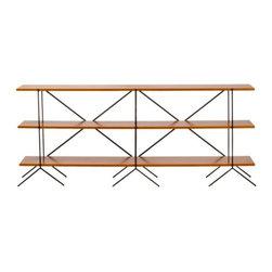 Go-Shelves - The Double Wide Shelving Unit - The double-wide modular go-shelf configuration: