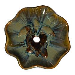 MAUI CERAMICS - Maui Small Honu Vessel -Large - Porcelain Ceramic Over Counter Vessel Sink