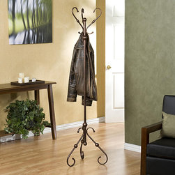 Upton Home - Antique Bronze Hall Tree/Coat Rack - This bronze antique hall tree is a functional yet stylish addition to any room. The elegant hall tree is constructed from quality metal and features three curved,hanging arms and elegant curved legs that will complement the decor in your home.