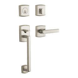 Baldwin Hardware - Baldwin Estate 85386 Soho Handleset, Satin Nickel - LH Keyed Entry - Finish: Satin Nickel (150)
